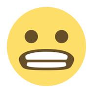 Emoji One Wall Icon Grimacing Face