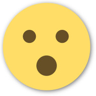 Emoji One Wall Icon Face With Open Mouth