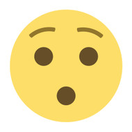 Emoji One Wall Icon Hushed Face