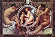 Idyll by Gustav Klimt