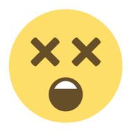 Emoji One Wall Icon Dizzy Face