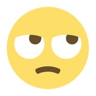 Emoji One Wall Icon Face With Rolling Eyes