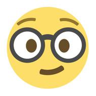 Emoji One Wall Icon Nerd Face