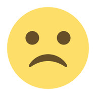 Emoji One Wall Icon White Frowning Face