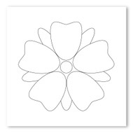 Emoji One COLORING Wall Graphic: Square Flower