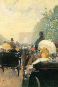 Carriage Parade by Hassam