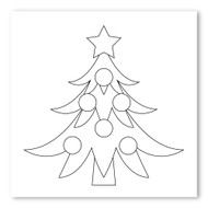 Emoji One COLORING Wall Graphic: Square Christmas Tree