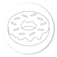 Emoji One COLORING Wall Graphic: Circle Doughnut