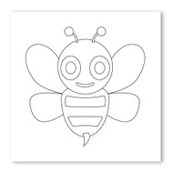 Emoji One COLORING Wall Graphic: Square Honeybee