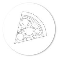 Emoji One COLORING Wall Graphic: Circle Slice Of Pizza