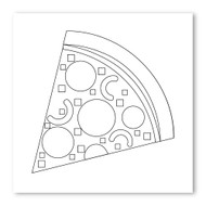 Emoji One COLORING Wall Graphic: Square Slice Of Pizza