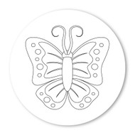 Emoji One COLORING Wall Graphic: Circle Butterfly