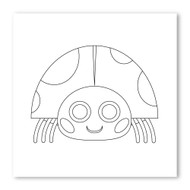 Emoji One COLORING Wall Graphic: Square Lady Beetle