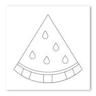 Emoji One COLORING Wall Graphic: Square Watermelon
