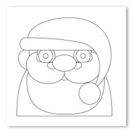 Emoji One COLORING Wall Graphic: Square Father Christmas