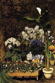Mixed Spring Flowers by Renoir