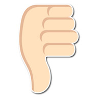 Thumbs Down Sign Tone 1