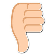 Thumbs Down Sign Tone 2