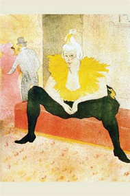 The Seated Clowness by Toulouse Lautrec
