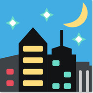Emoji One Travel & Places Wall Icon: Night With Stars