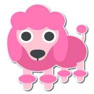 Emoji One Animals & Nature Wall Icon: Poodle