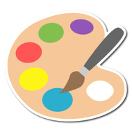 Emoji One Sports & Activities Wall Icon: Artist Palette
