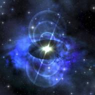 A Brilliant Star Sends Magnetic Waves Into Surrounding Space