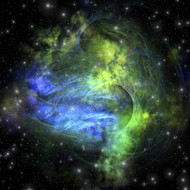 Gaseous Dense Clouds Form New Stars In The Cosmos