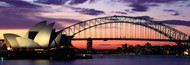Extra Large Photo Board: Sydney Harbour Bridge At Sunset - AMER
