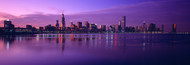 Extra Large Photo Board: Chicago Skyline from Lake Michigan - AMER