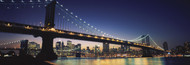 Extra Large Photo Board: Manhattan Bridge Illuminated at Night - AMER