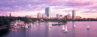 Standard Photo Board: Boston at Dusk with Sailboats - AMER