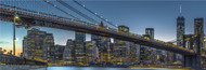 Extra Large Photo Board: New York - Blue Hour Over Manhattan by Michael Jurek - AMER