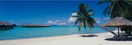 Extra Large Photo Board: Beach Umbrella Moana Beach Bora Bora - AMER