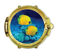 Window Views Yellow Coral Fish Under The Sea