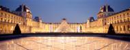 Standard Photo Board: The Louvre Pyramid Illuminated Paris - AMER