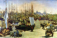 Port of Bordeaux by Manet