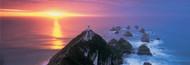 Extra Large Photo Board: Sunset Nugget Point Lighthouse New Zealand - AMER