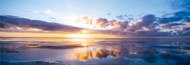 Extra Large Photo Board: Sunrise On Beach North Sea - AMER