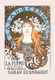 Sarah Bernhardt as Princesse Lointaine for La Plume (1897) Mucha