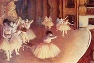 Dress Rehearsal Of The Ballet On The Stage by Edgar Degas