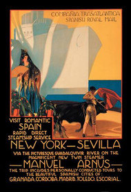 Visit Romantic Spain Rapid Direct Steamship Service from NY to Sevilla
