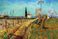Path Through a Field with Willows by Van Gogh