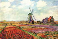 Tulips of Holland by Claude Monet
