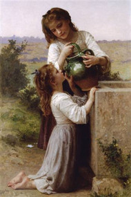 At the Fountain by Bouguereau