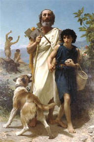 Homer and his Guide by Bouguereau