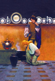 Checking the Tarts by Maxfield Parrish