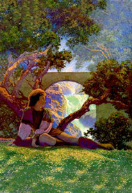 Knave of Hearts in the Meadow by Maxfield Parrish