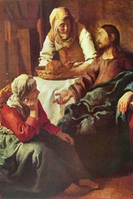 Christ With Mary And Martha by Vermeer