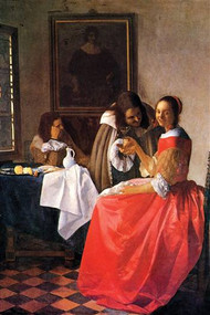 Girl With A Wine Glass by Vermeer